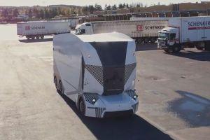 運転席のない自動運転トラック、初めてスウェーデンの一般道で試験走行を実施
