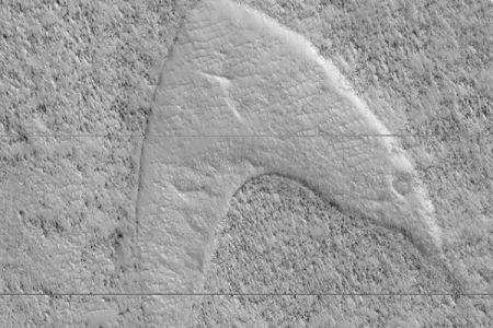 火星の表面にスタートレックのマーク?NASAがユニークな写真を公開