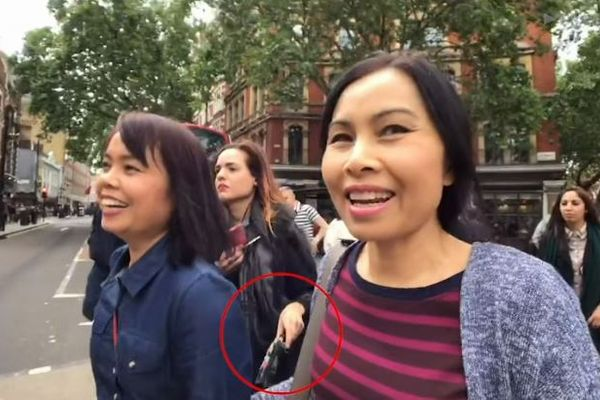 英への旅行者は注意!女スリ集団の巧妙な手口が公開される【動画】