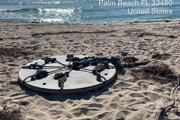 フロリダのビーチに打ち上げられた謎の円盤は、アフリカの漁業の道具だった