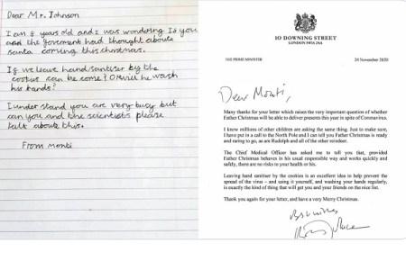 【朗報】今年もサンタはやってきます!8歳の子どもに英首相が文書で回答