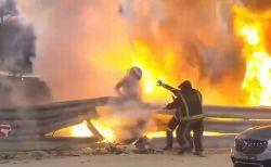 F1・バーレーンGPでマシンが激突し炎上、レーサーは奇跡的に軽傷