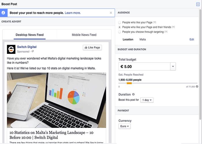 Online advertising Facebook marketing