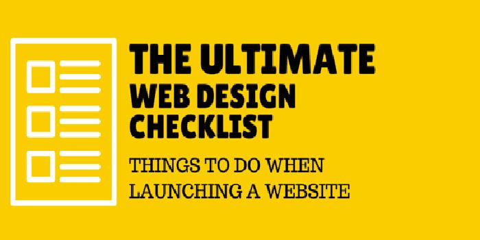 The Ultimate Web Design Checklist