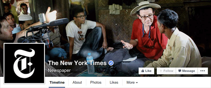 New York Times photo cover Facebook