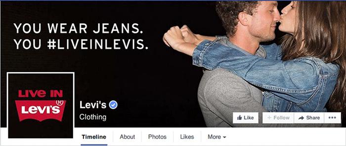 Facebook Page Levis