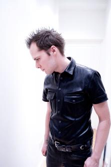 SLDN in Master U Leather shirt