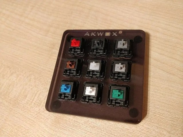 Switch board of different Cherry MX switches to test before buying.