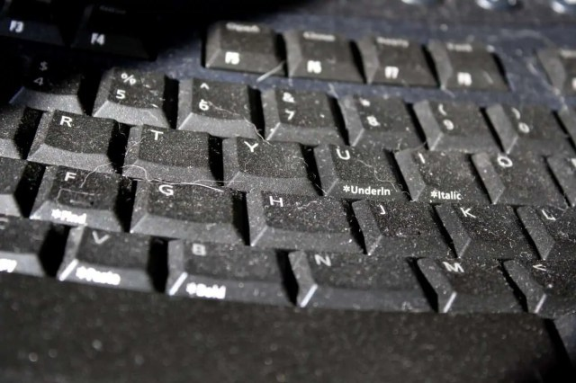 dirty and dusty keyboard