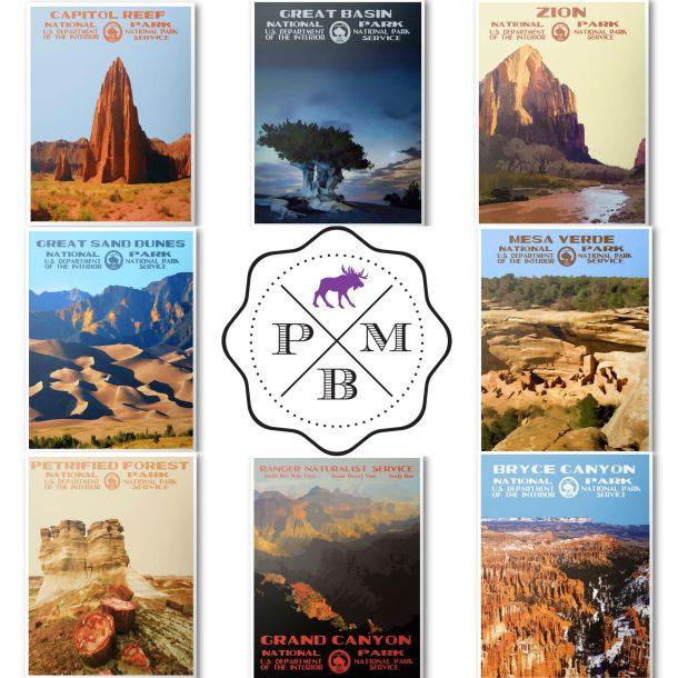 Purple Moose Basics Prints