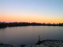 Our sunset view over the lake!