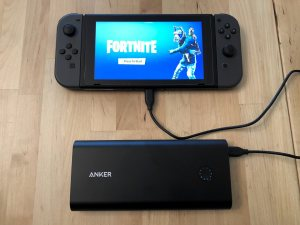 Anker PowerCore+ 26800 PD with Nintendo Switch.