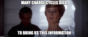 Many charge cycles died to bring us this information