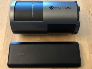 Top: Novoo 85W AC Portable Power Station. Bottom: Anker PowerCore Speed 20000 PD.
