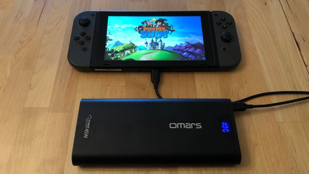 Omars PowerSurge 20000 45W USB-C PD with the Nintendo Switch
