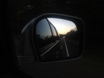 driving - mirror, north shore of Minnesota