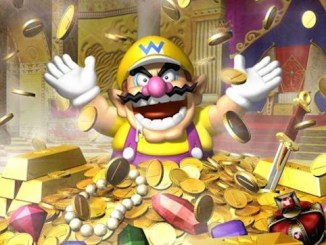 wario in pile of gold