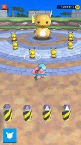 pokemon rumble style venasaur battling six pokemon rumble style pikachus and a giant pokemon rumble style raichu