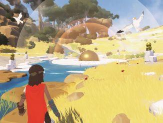 rime main character walking along a river
