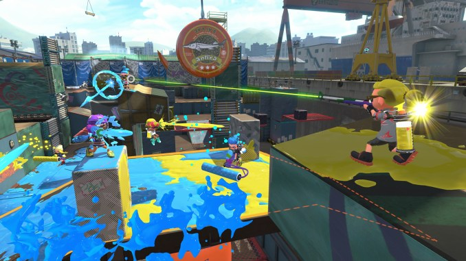 splatoon 2 players on new game map