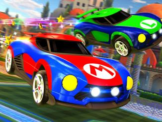 mario nsr and luigi nsr cars in rocket league
