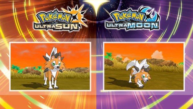 dusk form lycanroc in pokémon ultra sun and ultra moon