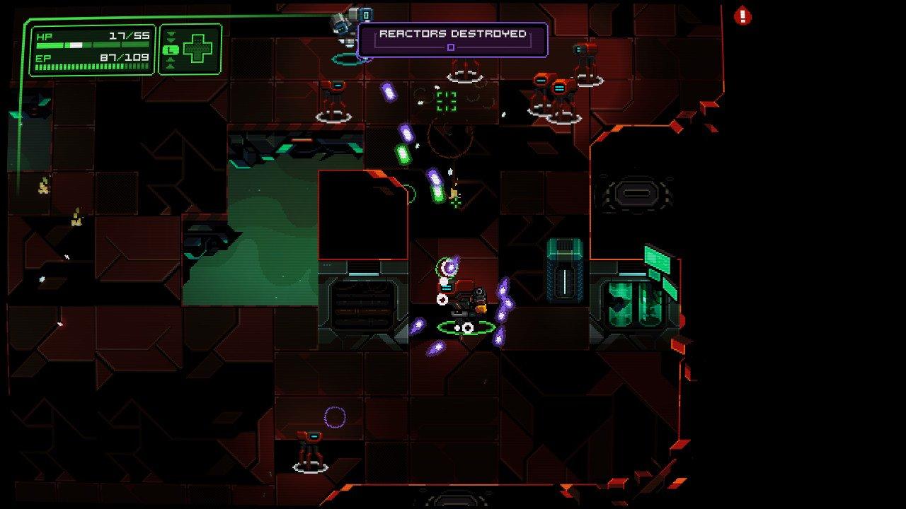 fighting hordes of enemies in neurovoider