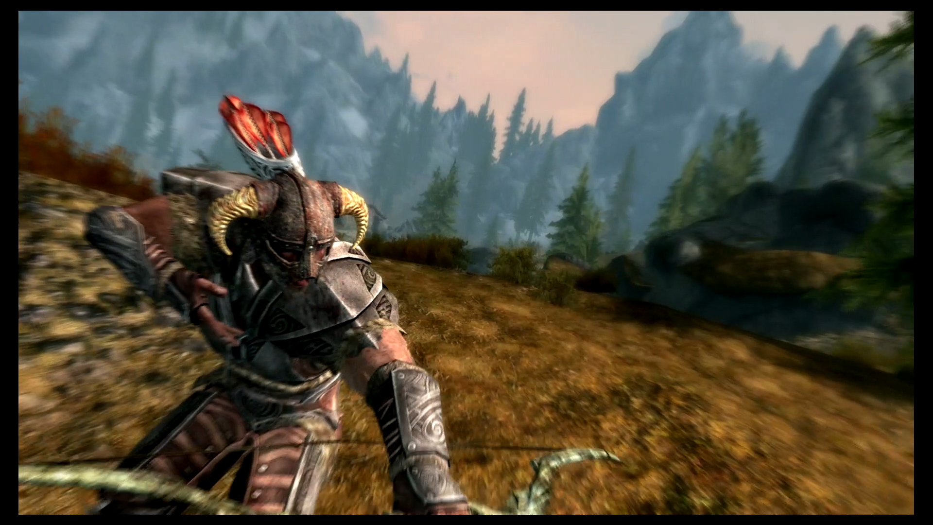 dragonborn shooting an arrow