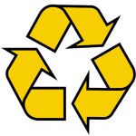 Watersports- Piss Recycling Yellow Recycle Symbol