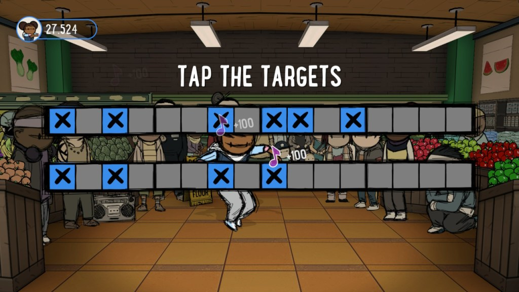tap the targets