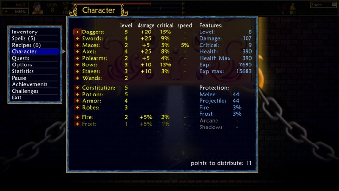 stat screen