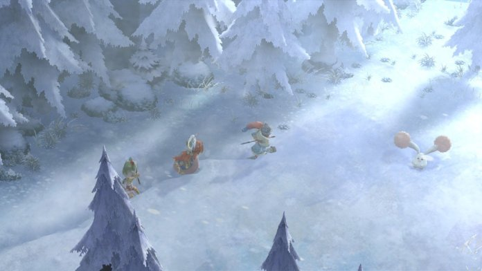 Exploring a forest in I am Setsuna