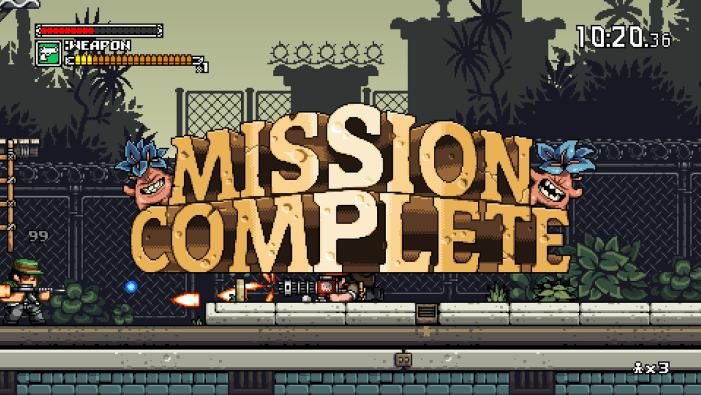Mercenary Kings Mission Complete Screen