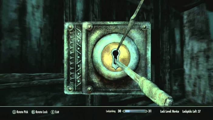 Skyrim picking a lock