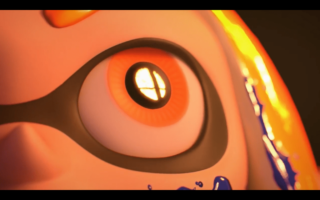 Smash logo in the inkling's eye