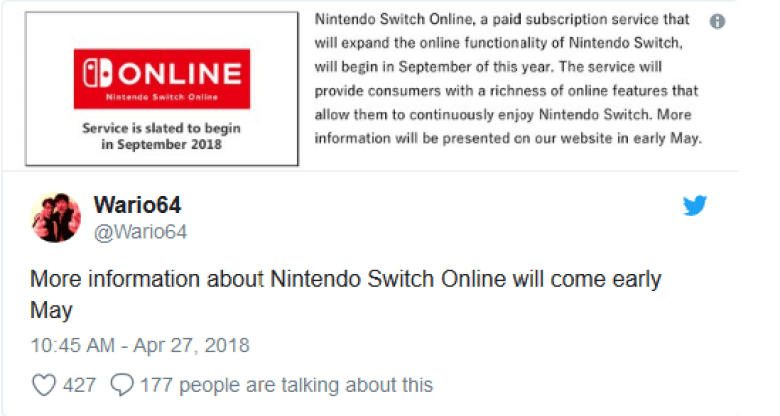 Nintendo Switch Online Service Information Update Coming In May
