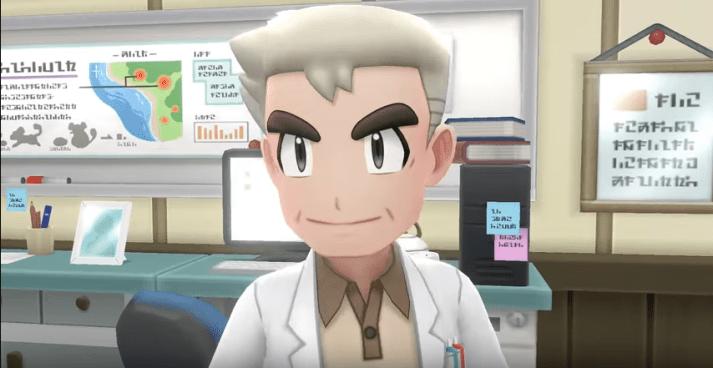 Professor Oak in Pokemon Let's Go