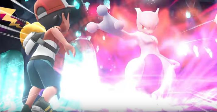 Red vs. Mewtwo in Pokemon Let's Go