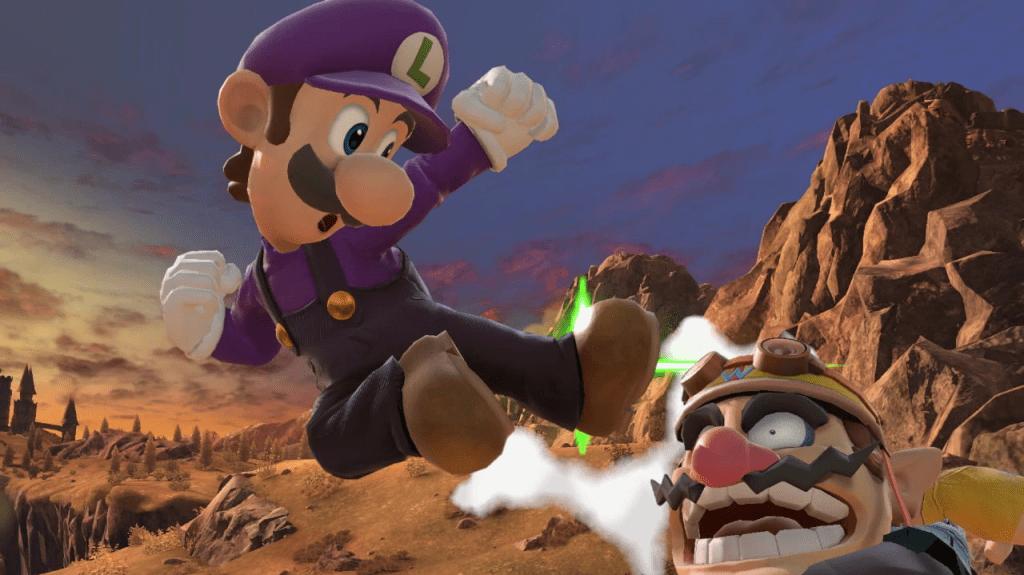 Luigi Super Smash Bros. Ultimate Aerial