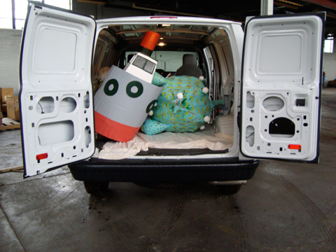 Cargo van full of monsters.