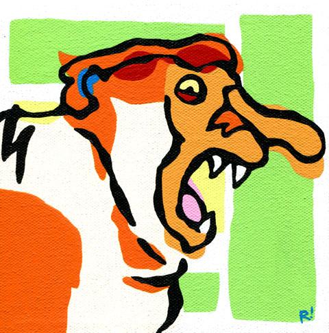 "Proboscis Monkey, study, 6""x6"""