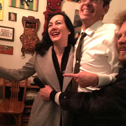 Artists Mary Dykstra, Rob Elliott and Freshdiscoporkergas at Swizzle 'Round The Clock