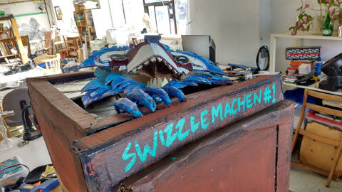 Ready to mount. SWIZZLEMACHEN is a portmanteau of our creative handles..