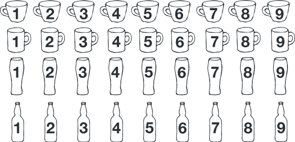 Coffee and beer icons by Rob Elliott