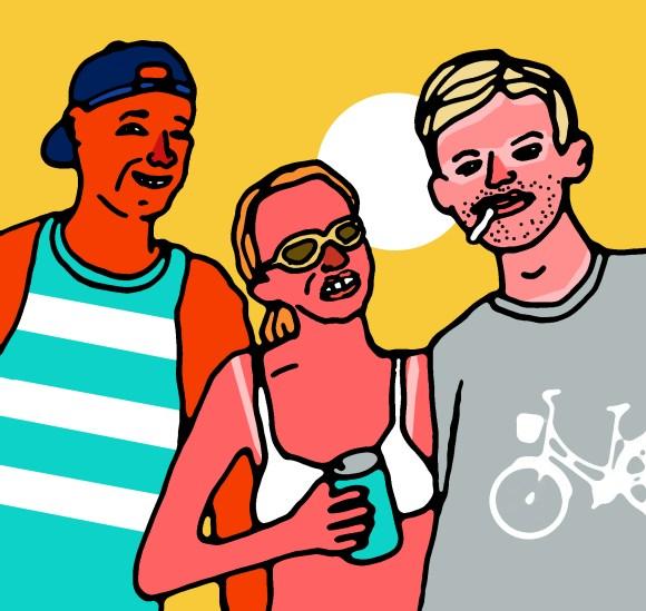 Day Drinkers illustration by Rob Elliott