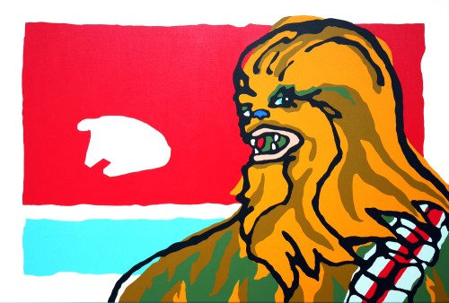 Chewbacca painting