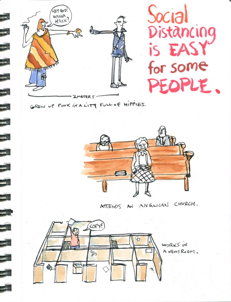 My Pandemic Diary page 3: Social distancing is easy for some people