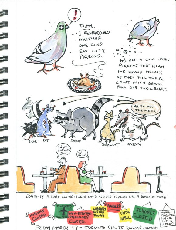 Page 5 My pandemic diary: eating pigeon, lunch for detectives, mass closings
