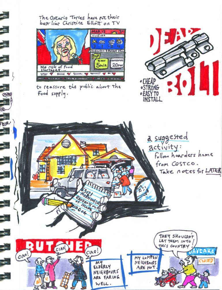 Page 6 My Pandemic Diary: Christine Elliott, Dead Bolt, Costco neighbours