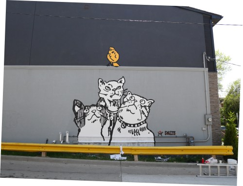 Alley Cats mural by Swizzle and Updog, Toronto